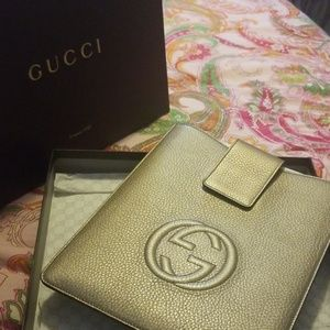 GUCCI leather tablet case